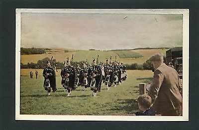 Thurso Caithness - Town Pipe Band Playing at Lairg Sutherland RP p/u 1965