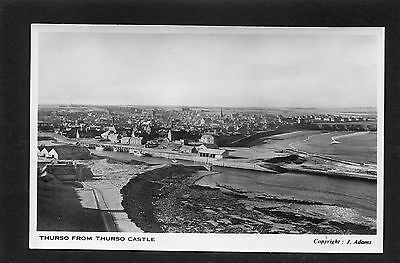 Thurso Caithness - View of Thurso from Castle by J Adams RP c1950