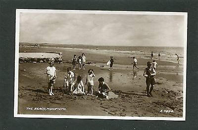 Monifieth Broughty Ferry Dundee - Children on the Beach RP c1935