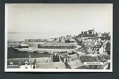 Findochty nr Portknockie Cullen Moray - View of Village and Harbour RP c1960