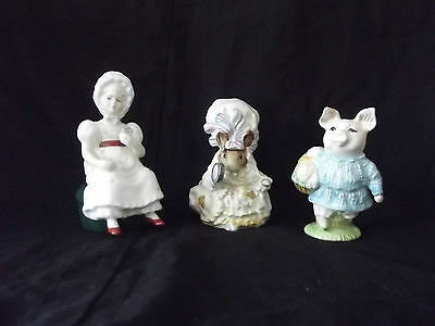 2 x Beswick Beatrix Potter Figurines and 1 x Royal Doulton Kathy Figurine.