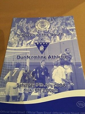 Queen Of the south FC V Dunfermline Ath FC 2004