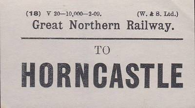 Great Northern Railway Luggage Label HORNCASTLE (2-09)