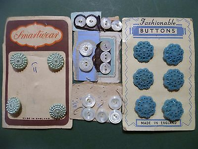 A mixed lot of pretty vintage buttons