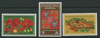 St.kitts-Nevis Sg241/3 1971 Phillipe De Commemoration Mnh