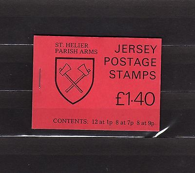 Jersey Mnh Complete Booklet 1.40 St. Helier Parish Arms