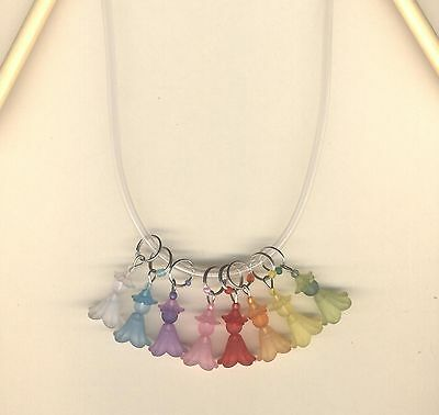 Acrylic Flower Fairy Stitch Markers in 8 Colours Fit up to 7mm Needles