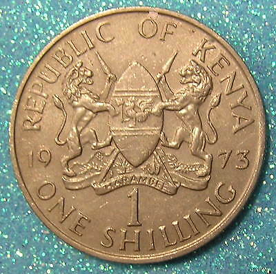 1-Coin from Kenya.  1-Shilling.  1973.