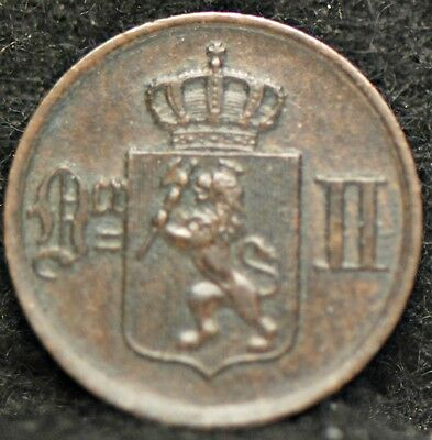 Norway, 1876 Ore,  Extremely Fine, rim nick                               ..3gmr
