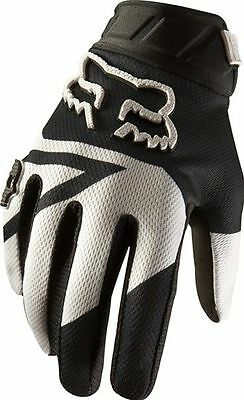 FOX youth motocross gloves 360 MACHINA sz 7 large blk/wht NEW