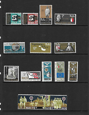 Malta - 1969 - 8 complete issues -  unmounted mint