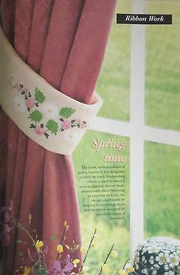 Floral Ribbon Embroidery Curtain Tie-Back - Pattern Only