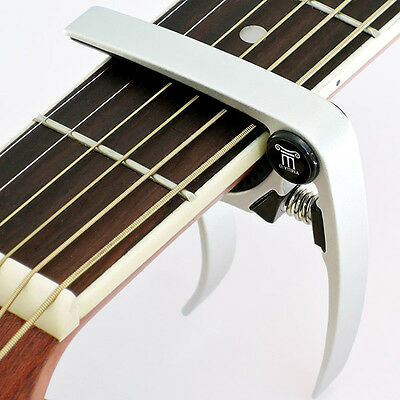 Capo – Quick Trigger Release for Acoustic & Electric Guitar - Silver Chrome
