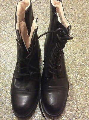 New Black Ankle Boots From Ella Shoes Size 6/39