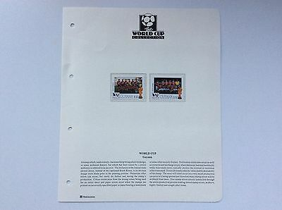 2 x GUYANA WORLD CUP STAMPS WITH ERRORS. SEE DESCRIPTION BELOW.   (RARE)