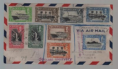 St Lucia - envelope with GV stamps