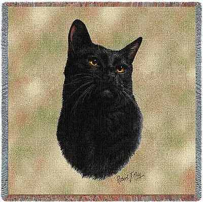 Lap Square Blanket - Black Cat by Robert May 1953  IN STOCK