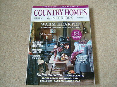Country Homes & Interiors Magazine - November 2016 - Enjoy Autumn - Warm Hearted