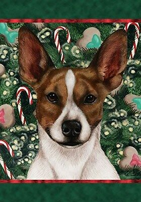 Large Indoor/Outdoor Holiday Flag - Brown Rat Terrier 14130