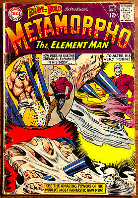 Brave and the Bold 57. 1st appearance Metamorpho. Complete Copy. Good 2.0