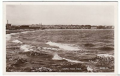 NAIRN FROM THE PIER  - 1925 used Real Photo postcard