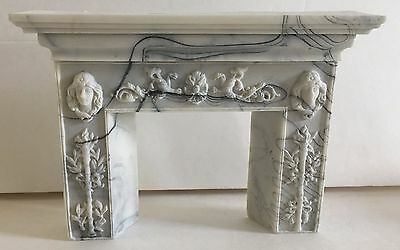 Vintage Marble Swirl Dollhouse Furniture Fireplace
