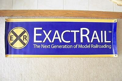 ExactRail Train Show SALES DISPLAY BANNER for N or HO scale Train Room layout