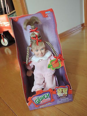 Dr. Seuss How the Grinch Stole Christmas Cindy Lou Who Doll NEW Spinning Braids