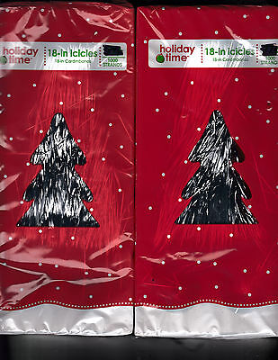 2  NEW Boxes 2000 STRANDS HOLIDAY TIME CHRISTMAS ICICLES TINSEL