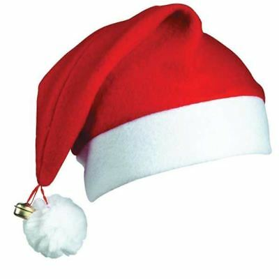 Novelty Santa Hats with Bell Father Christmas Costume Accessories Party  Outfit b6adeaca5e6f