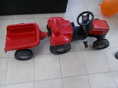 Rolly Kid Massey Ferguson Kids Pedal Tractor with Trailer