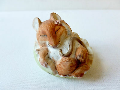 Sweet Bone China Country Life Design Studio Mouse Asleep In An Apple