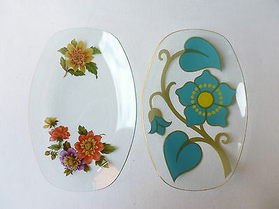 2 Retro Chance Glass Dishes 1960/70's Different Patterns
