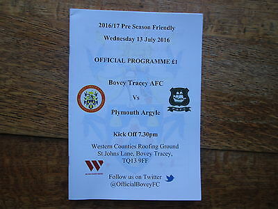 BOVEY TRACEY v PLYMOUTH ARGYLE [FRIENDLY] 13TH JULY 2016