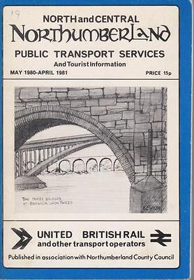 Northumberland Bus Timetable Book North & Central Northumberland May 1980