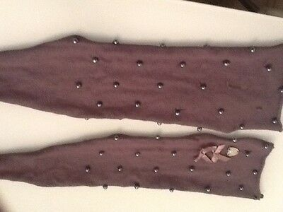 Girls Le Chic  Grey Stud and Diamond scarf