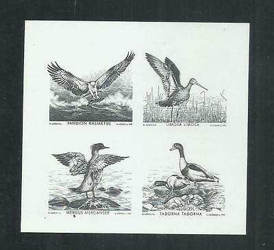 Lithuania 1992 Baltic Birds Proofs