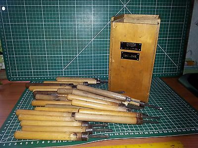 25 x Vintage ~ Bookbinding embossing / finishing tools ~ 16pt~  nice