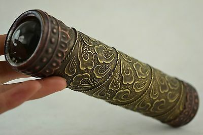 China Rare Old Decorated Handwork Copper Carving Flower Wonderful Kaleidoscope