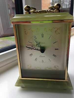 Onyx Vintage Carriage Clock