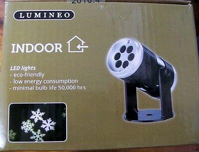New Lumineo Christmas Led Snowflake Projector White Lights With Sound Sensor