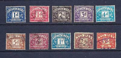 Great Britain Early Postage Due Collection to  5/-  Fine Used.