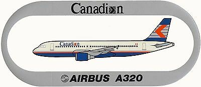 Airbus Sticker CANADIAN AIRLINES A320 - V2