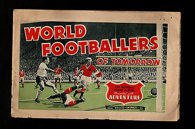 "D.C.THOMSON 1950s INTERESTING ( SPORTS ) 42 PICTURES BOOKLET "" WORLD FOOTBALLERS"