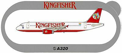 Airbus Sticker KINGFISHER AIRLINES A320 - V1