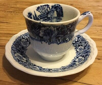WH Grindley & Co Ltd - Countryside Blue Pattern -  Cup And Saucer