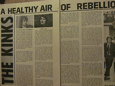 The Kinks, Two Page Vintage Clipping