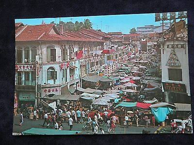 S. W. Postcard Of Street Stalls Selling, Singapore