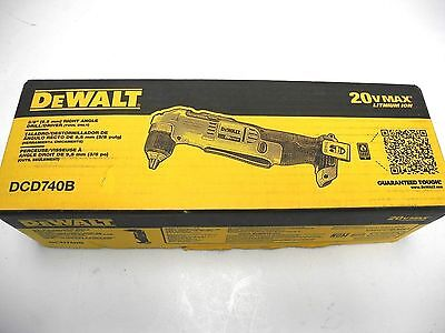 DEWALT dcd740b 20-Volt Max Lithium-Ion 3/8 in. Right Angle Drill (Tool-Only)