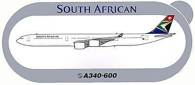 Airbus Sticker SOUTH AFRICAN AIRWAYS A340-600